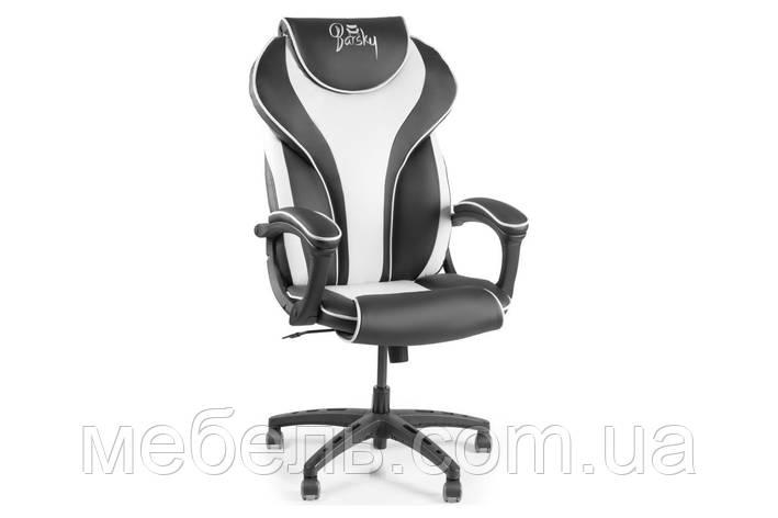 Компьютерное детское кресло Barsky Sportdrive White Arm_pad Tilt PA_designe BSD-04, фото 2