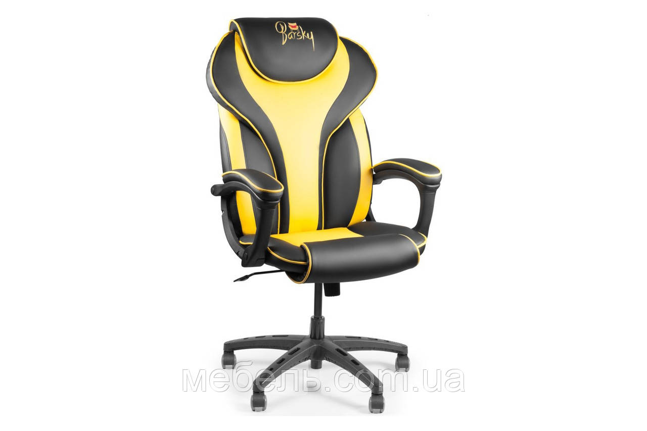 Кассовое кресло Barsky Sportdrive Yellow Arm_pad Tilt PA_designe BSD-06