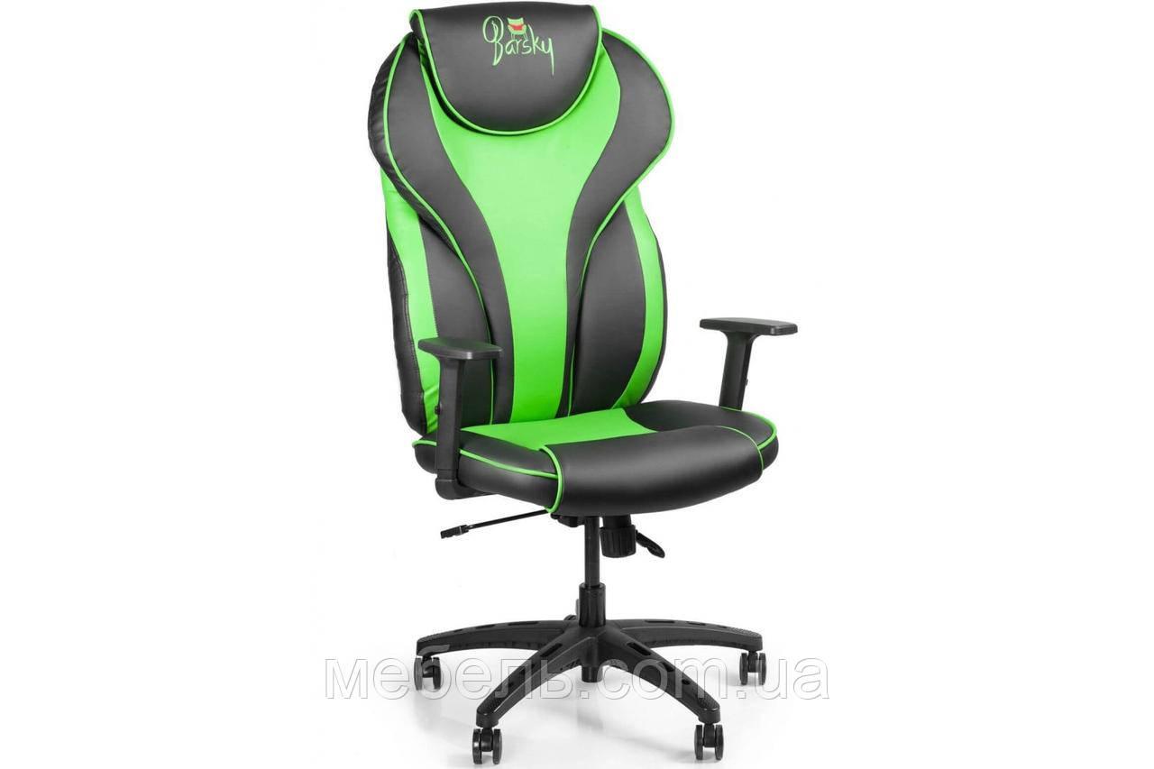 Кресло для домашенего кабинета Barsky Sportdrive Green Arm_1D Synchro PA_designe BSDsyn-01