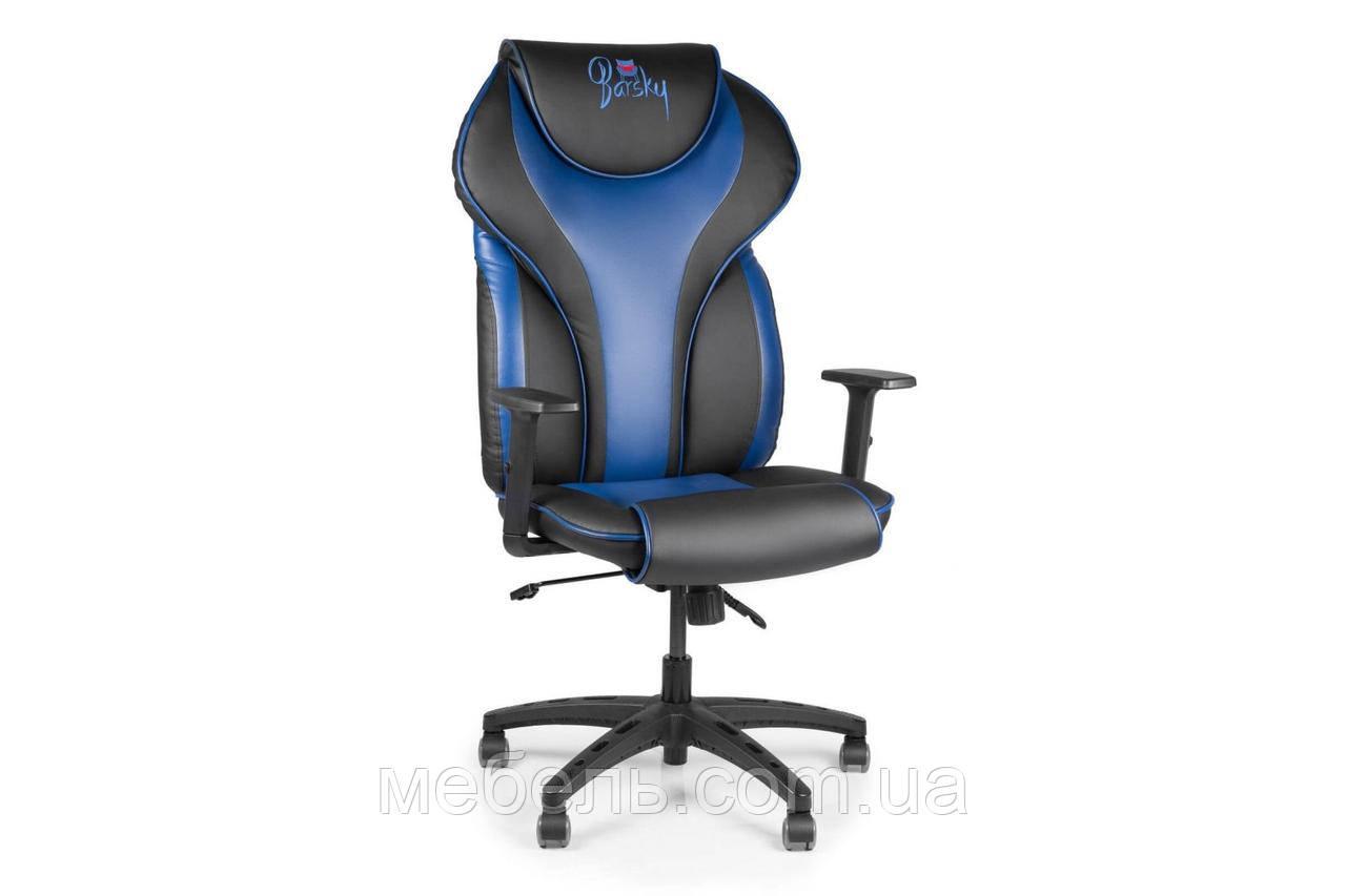 Компьютерное игровое геймерское кресло Barsky Sportdrive Blue Arm_1D Synchro PA_designe BSDsyn-02