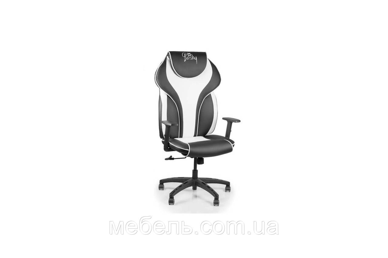 Компьютерное игровое геймерское кресло Barsky Sportdrive White Arm_1D  Synchro PA_designe  BSDsyn-04