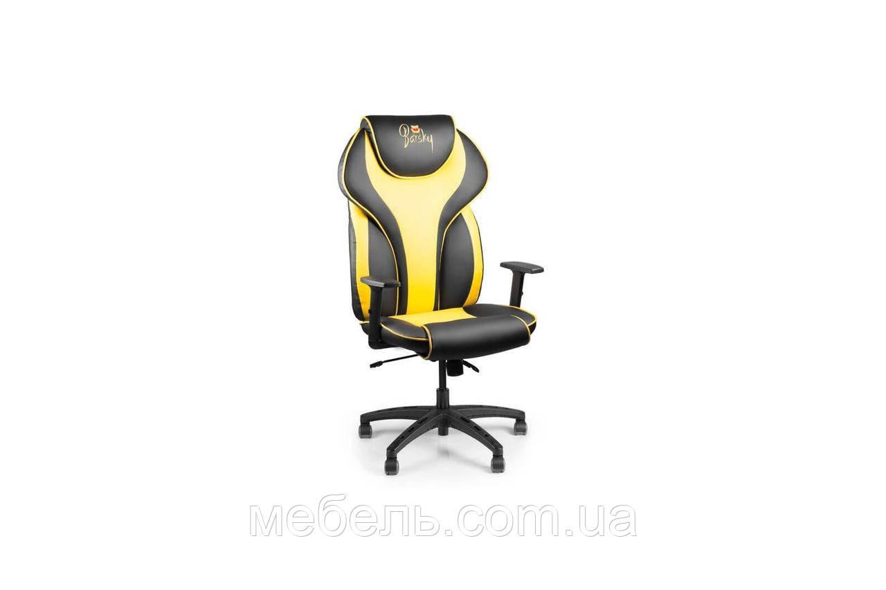 Компьютерное игровое геймерское кресло Barsky Sportdrive Yellow Arm_1D   Synchro PA_designe BSDsyn-06