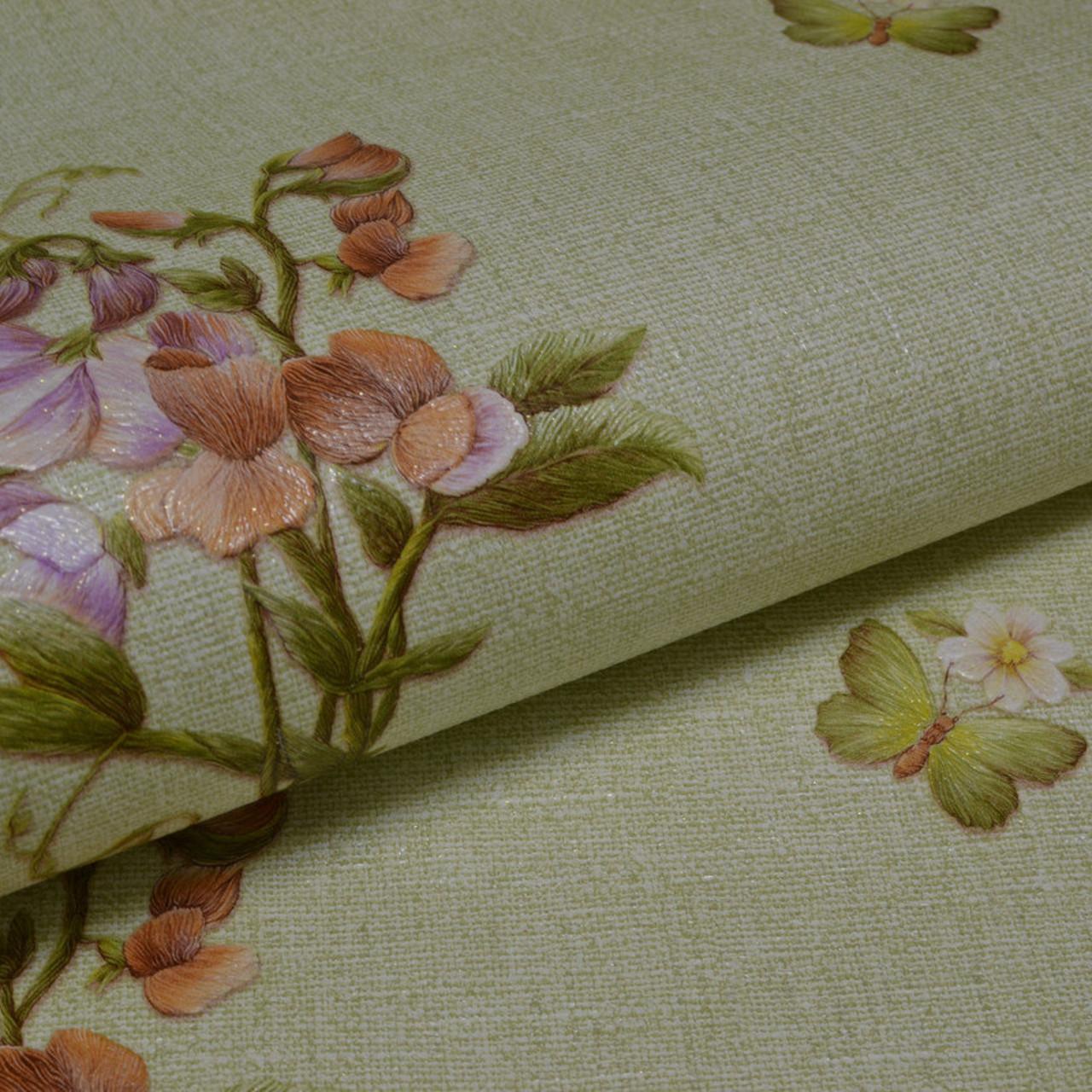 Обои, обои на стену, дуплекс, бумажная основа, цветы, B64,4 Фиалка 8093-04, 0,53*10м, (і