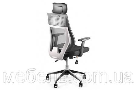 Кресло для домашенего кабинета Barsky Team White/Grey Arm_1D alum-chrome TBG1d_alu-01, фото 2