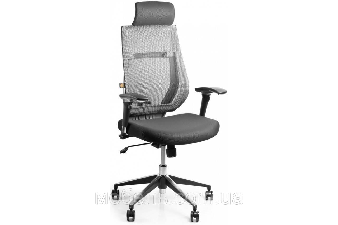 Кассовое кресло Barsky Team White/Grey Arm_2D alum-chrome TWG2d_alu-01
