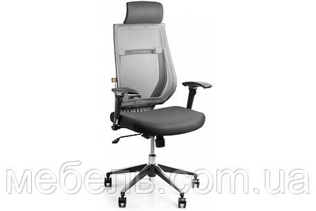 Кассовое кресло Barsky Team White/Grey Arm_2D alum-chrome TWG2d_alu-01, фото 2