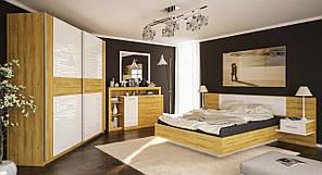 """Спальня """"Фієста"""" від Мебель Сервіс (білий глянець)"""