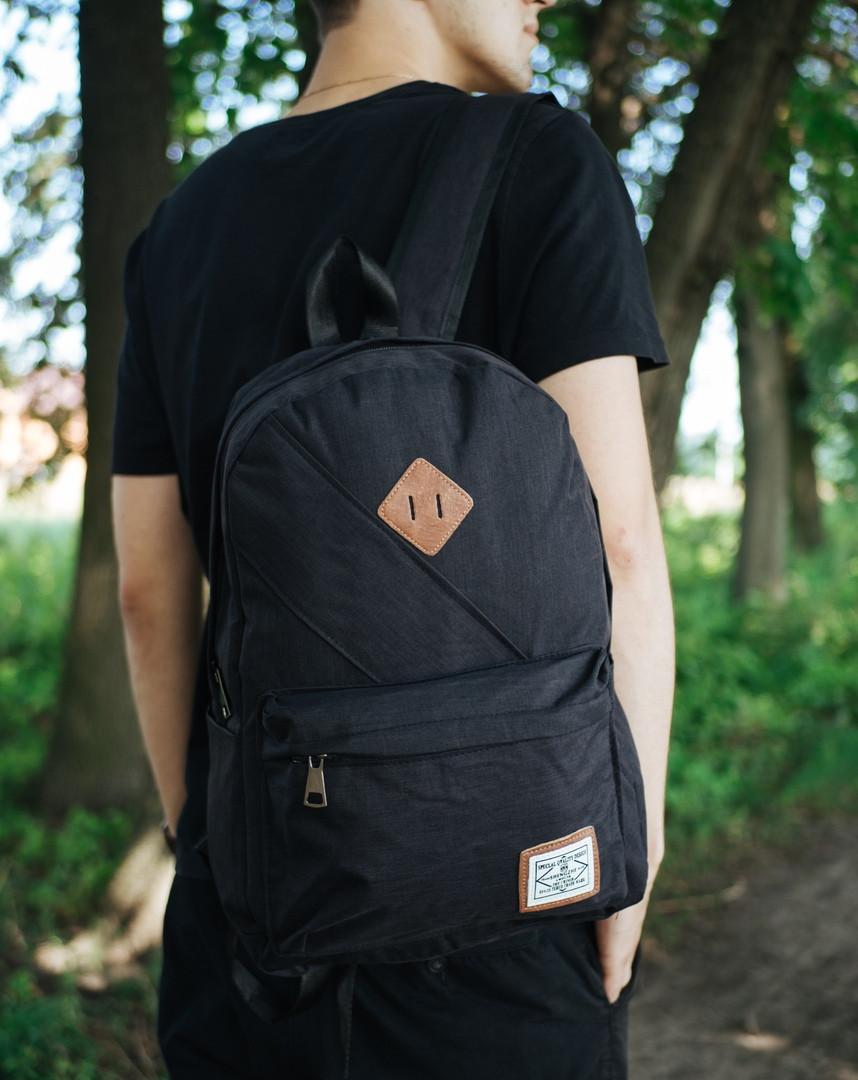 Спортивный рюкзак качественный для повседневной носки в черном цвете