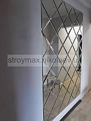 Дзеркальне панно 1500*2065 мм срібло фацет 15 мм