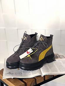Жіночі чоботи Puma Spring Boots Brown Yellow Black
