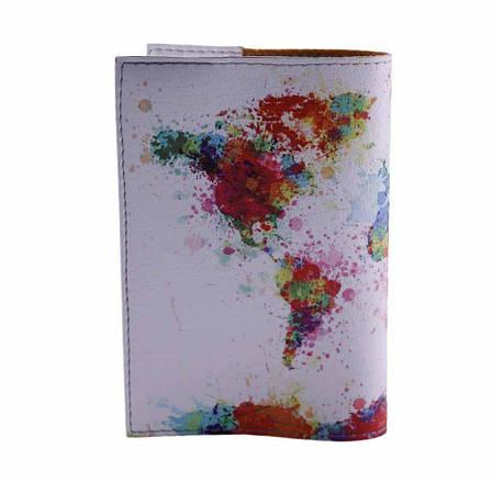 """Обложка на паспорт """"Карта мира"""", экокожа, фото 2"""
