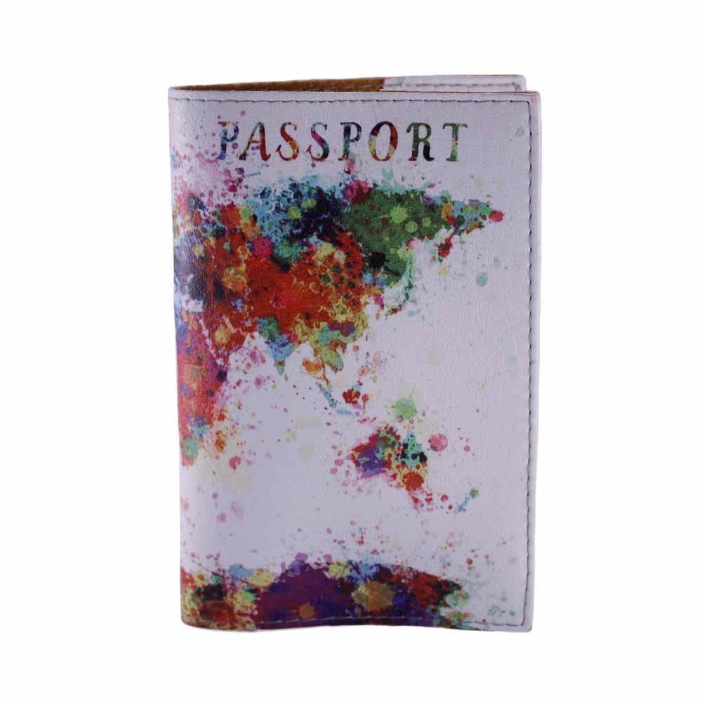 """Обложка на паспорт """"Карта мира"""", экокожа"""