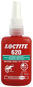 Фиксатор вал-втулочный высокотемпературный Loctite 620, 50 мл