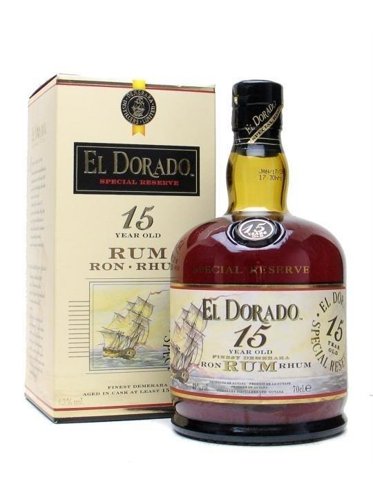 Ром El Dorado 15 у.о. (Ель Дорадо 15 лет) 40%, 0,7 литра