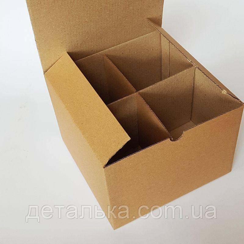 Картонные коробки с перегородками 169*169*119 мм.