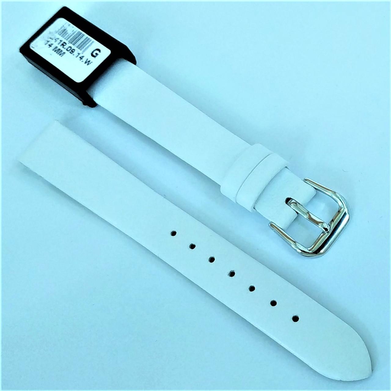 14 мм Кожаный Ремешок для часов CONDOR 241.14.09 Белый Ремешок на часы из Натуральной кожи