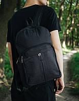 Стильный модный мужской рюкзак водонепроницаемый на молнии в черном цвете, фото 1