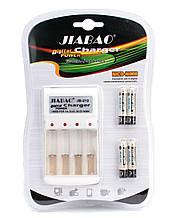 "🔋Универсальное зарядное устройство на 4 канала в комплекте с Ni-MH аккумуляторами тип AAA/R03/Micro/""три А"""