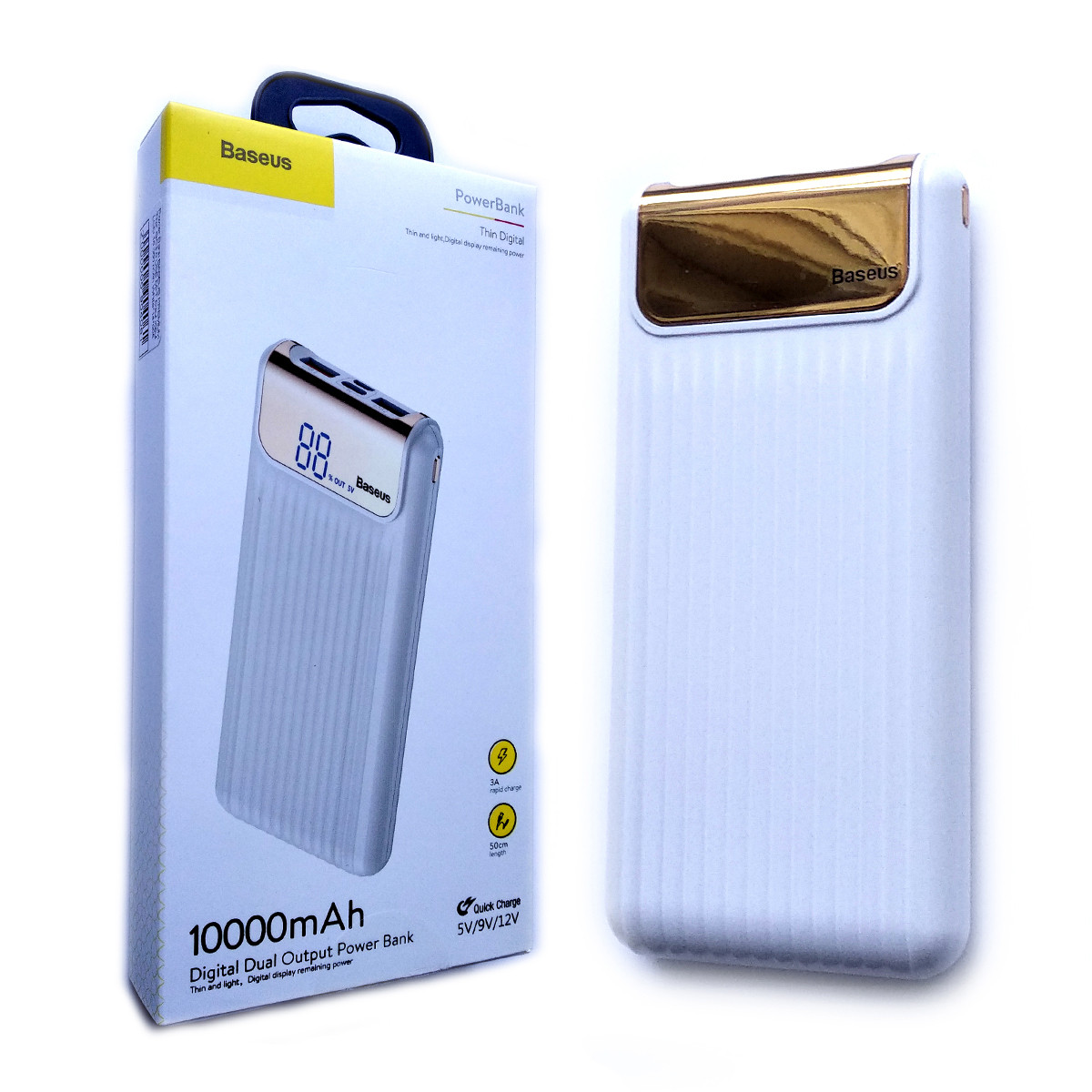 Power Bank Baseus Premium Thin QC3.0 10000 mAh (Белый)