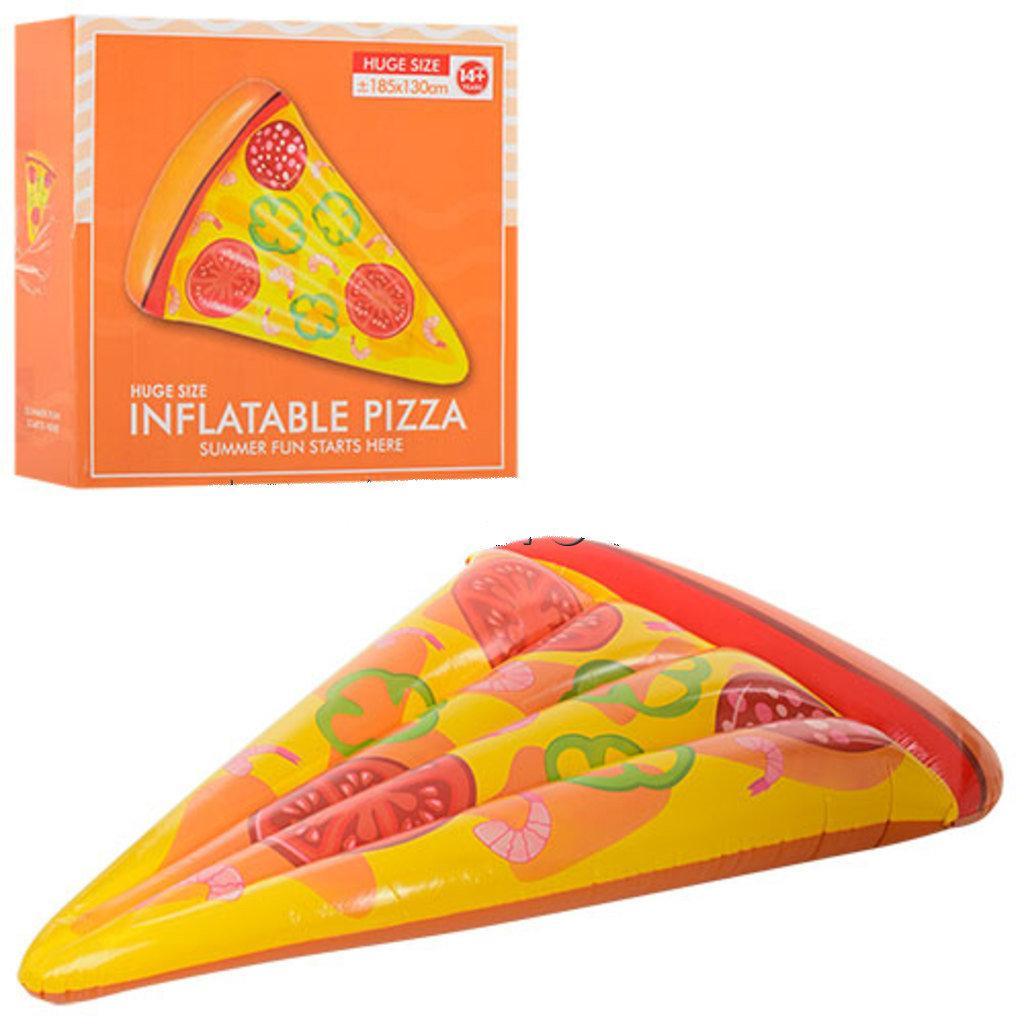 Надувной пляжный матрас пицца  размер 188х130см, нагрузка до 80кг