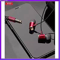 Наушники с микрофоном и регулировкой громкости XO S28 красные