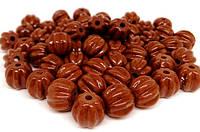 Бусинки (звенья) турманиевые (М-04) поштучно, коричневые