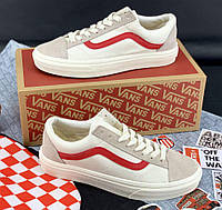 Vans Old Skool Grey Red | кеды женские и мужские; серые-красные
