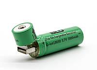 Аккумулятор 18650 BLD зарядка от USB Li-ion 3800mAh, фото 1