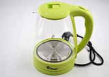 Электрический чайник Domotec MS-8212 (2,2 л / 2200 Вт) Салатовый, фото 2