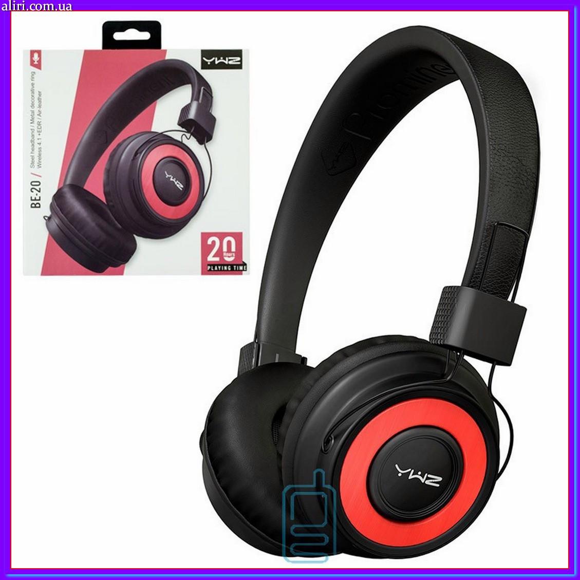 Bluetooth наушники с микрофоном Sonic Sound BE-20 с функцией плеера черно-красные