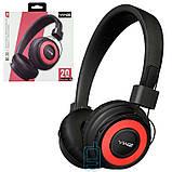 Bluetooth наушники с микрофоном Sonic Sound BE-20 с функцией плеера черно-красные, фото 2