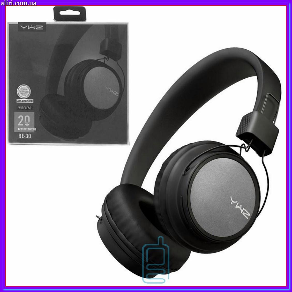 Bluetooth наушники с микрофоном Sonic Sound BE-30 с функцией плеера черно-серые