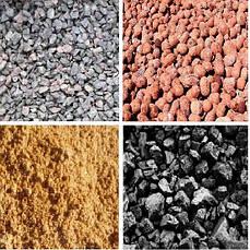 Песок, щебень, керамзит, уголь