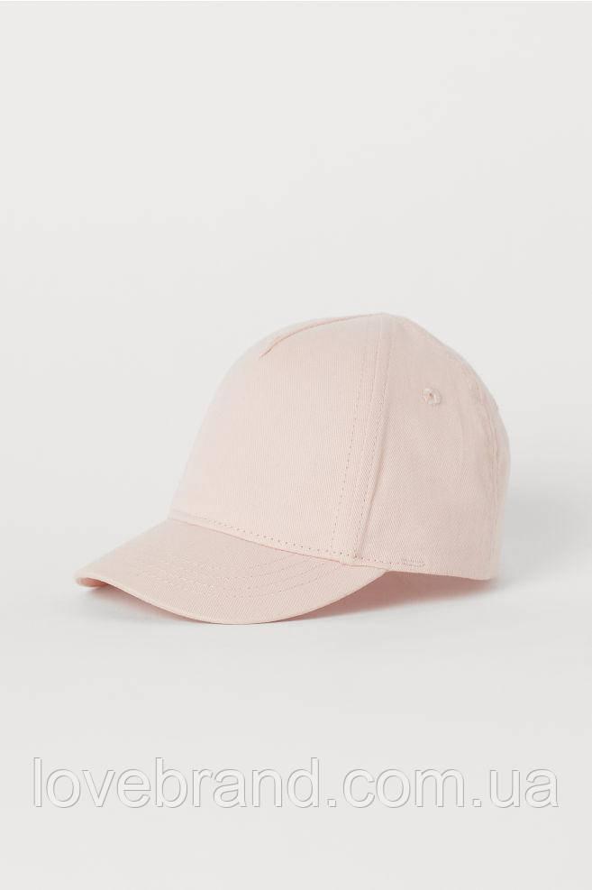 Классическая розовая кепка для девочки H&M , с согнутым козырьком, детская кепка hm однотонная
