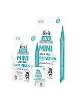 Brit  Care GF Mini Light&Sterilised 7 kg (д/собак малых пород) контроль веса