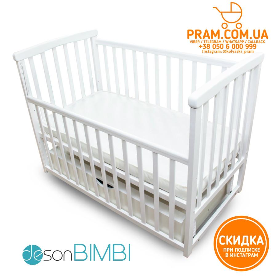 Детская кроватка Deson BIMBI Белый