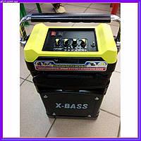 Портативная акустическая система Бумбокс NS-1389BT, Колонка с радиомикрофоном