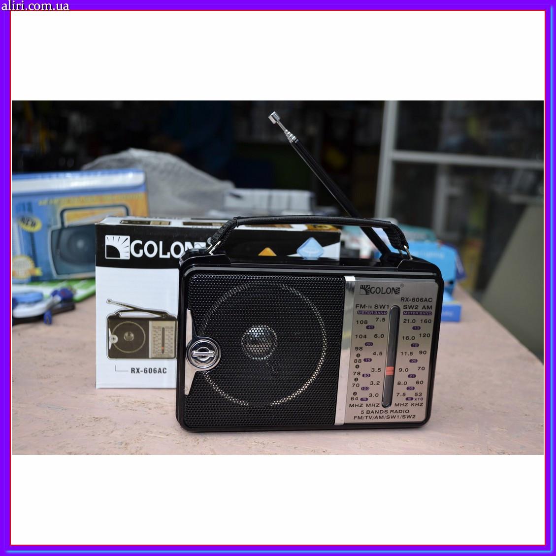 Всеволновой радиоприёмник GOLON RX-606 AC от сети или батареек