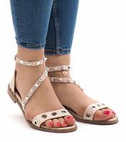 Женские сандалеты бежевые