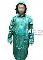 Плащ-дождевик ПВХ+нейлон (зеленый)
