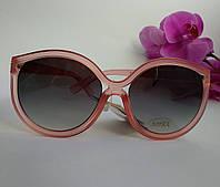 Модные женские солнцезащитные очки Бабочки цвет пудра (093), фото 1