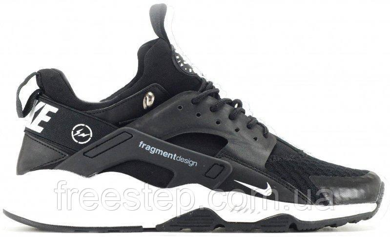 Чоловічі кросівки в стилі Nike Huarache Fragment чорні