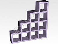 Мебельный стеллаж  Кубус Стойка, 4*4, 1442*1442*293 мм,  цвет в ассортименте