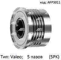 Шкив (муфта) генератора на Opel Movano 1.9 DTi/CDTi, Опель Мовано 1.9 дти, 5 пазов, AFP3011 (AS-PL)