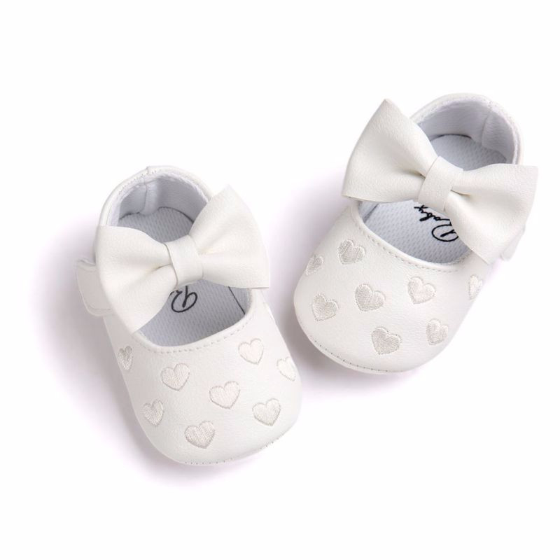 Пінетки-туфлі Серце білі дівчачі дитячі Пинетки детские для девочки 12