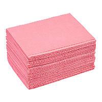 Салфетка стоматологическая Sanador, розовая, 42*33 см. 25 шт.