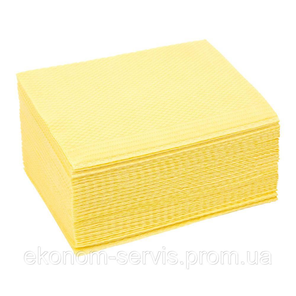 Салфетка стоматологическая Sanador, желтые, 42*33 см. 25 шт.