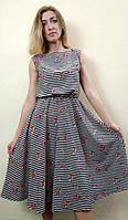 Женское летнее платье миди с юбкой полуклеш, П266/1, фото 1