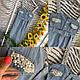 Эффектный и стильный женский, джинсовый сарафан облегающего кроя с жемчугом, фото 9