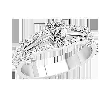 Кольцо женское серебряное Андромеда 21312